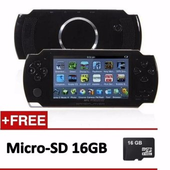 Handheld Game Console 4.3 inch screen mp4 player MP5 game player real 8GB support for psp game,camera,video,e-book + 16GB Memory Card - intl Price Philippines
