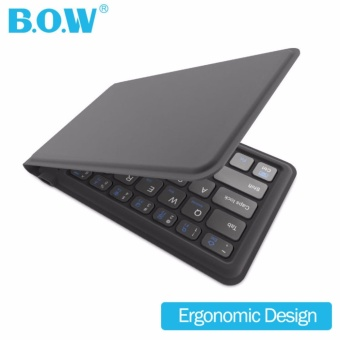 Ergonomic folding multi-system universal Bluetooth keyboard Mini Foldable Portable Bluetooth Wireless Keyboard For Smartphone Tablets Laptop - intl Price Philippines