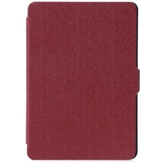 Harga Ultra Slim Leather Smart Lightweight Durable Cover Case for Amazon Kindle Paperwhite 1 / 2 / 3 (Dark Red) - Intl