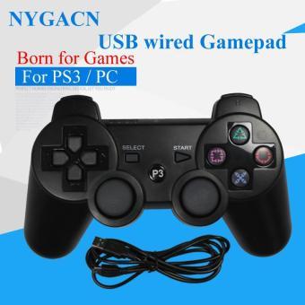 NYGACN USB bedrade gamepad NJP307 voor PS3/computer controller XD4 motor lange kabel joystick dualshock PC goedkope Freeshipping Price Philippines