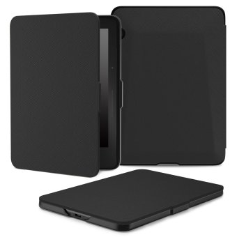 Harga Ultra Slim Lightweight Smart shell Stand Cover Case for Amazon Kindle Voyage 6 (Black ) - Intl