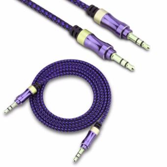 AUX-C3 1M 3.5mm To 3.5mm Stereo Audio Cable For Speaker(Purple) Price Philippines