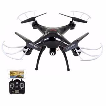 Homex Syma X5SW-1 Wifi FPV Real-time 2.4GHz RC Quadcopter Drone UAV RTF UFO with 0.3MP Camera (Black and white) with Syma 1200 mAh Li-Po Battery Price Philippines