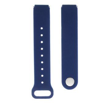 Harga VAKIND Silicone Rubber Smart Watch Strap for Huawei Talkband B3 (Blue)