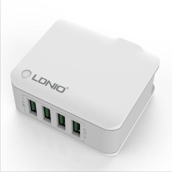 Harga LDNIO 4 ports 4.4A USB Rapid Charger with UK Plug (White) - intl