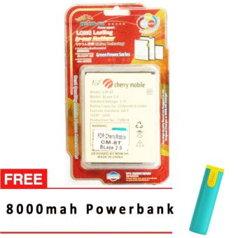 MSM HK Battery for Cherry Mobile CM-8T BLAZE 2.0 WITH FREE 8,000 MAH POWERBANK Price Philippines