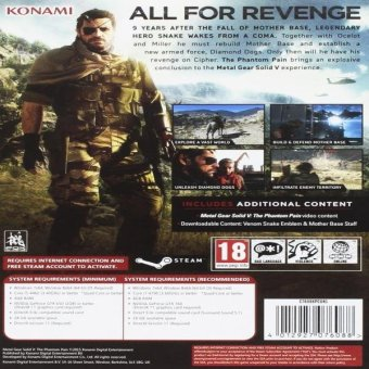 Metal Gear Solid V: The Phantom Pain (Pc Dvd) Price Philippines
