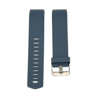 Harga New Diamond Silicone Band For Fitbit Charge 2 (Cyan) - intl
