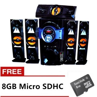 ACE Music Heaven SUB-120AC Bluetooth 5.1 Channel Home Theater System (Black) with FREE 8GB Memory Card Price Philippines