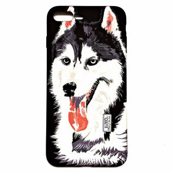Harga LUXO iphone 7 plus / 7s plus case, Animal 3D Printed,Glowing in the dark, Quality and Premium Case 2017 ( HUSKY )