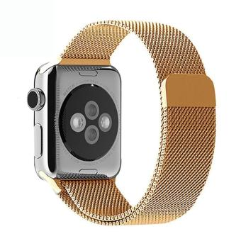 niceEshop 42mm Milanese Magnetic Loop Stainless Watch Band Strap Leather Loop For Apple Watch (Gold) - intl Price Philippines