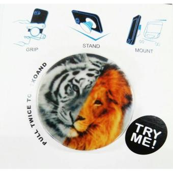 Harga Pop Sockets Phone Holder Stand (Lion/Tiger)