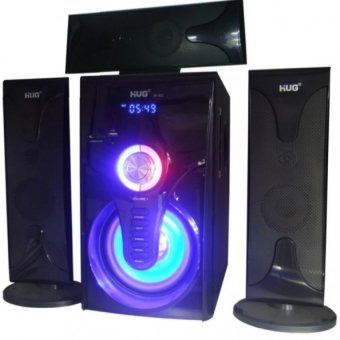 Harga Cai Music-302 3.1 Home Theater Subwoofer Speaker With USB/SD Slot & FM Radio (Black)