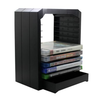 Ajusen Multifunctional Universal Games & Blu Ray Discs Storage Tower For 10 games or Blu-ray discs holder for Xbox One for PS4 - intl Price Philippines