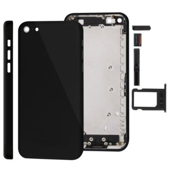 Harga Full Housing Replacement Chassis / Back Cover with Mounting Plate and Mute Button + Power Button + Volume Button + Nano SIM Card Tray for iPhone 5C(Black)