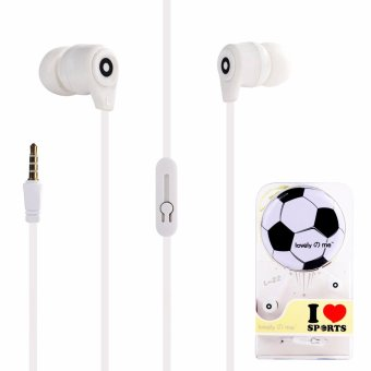 Harga Lovely Me Sports L-22 96dB In-Ear Headphone Mic with Earphone Pouch (White)