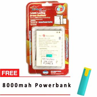 MSM HK Battery for Cherry Mobile CM-11H FLARE X WITH FREE 8,000 MAH POWERBANK Price Philippines