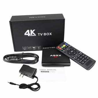 Harga A95X Quad Core Android 6.0 Smart TV Box 8GB Media Player 4K WiFi Fully Loaded(AU Plug) - intl