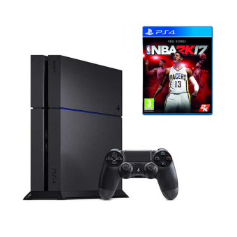 Sony Ps4 Unit (Black) with PS4 NBA 2k17 Game Price Philippines