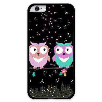 Harga Art Design Couple Owls Carton Phone Case for Iphone 6S Plus(Multicolor) - intl
