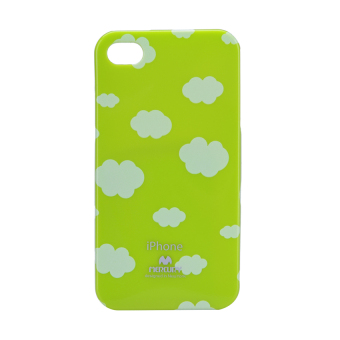 Mercury Printed Jelly Case iPhone 4/4S (Cloud/Lime Green) Price Philippines