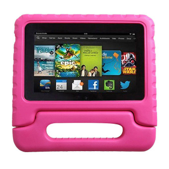 Harga Children Safe EVA Foam Case for Amazon Kindle Fire 7 inch (Rose Red)
