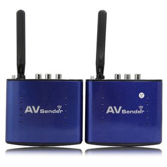 Harga 5.8GHZ 8 Channel 200m 20m Wireless Audio Video AV SD TV Sender Transmitter & Receiver Remoter black