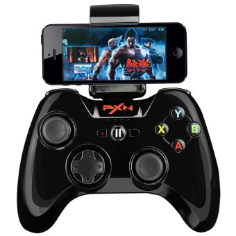 Harga PXN - 6603 MFi Certified Speedy Wireless Bluetooth Game Controller Portable Joystick Vibration Handle Gamepad for IOS (Black)
