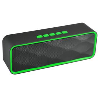Harga LC Excellent LC-209 Mini Portable Bluetooth Dual Speakers Ultra Bass (Green)