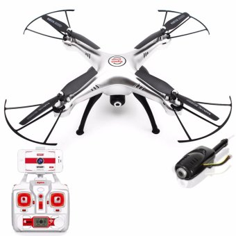 Syma X5HW WIFI FPV With 2MP HD Camera 2.4G 4CH 6-Axis Gyro Quadcopter RTF (Silver) Price Philippines