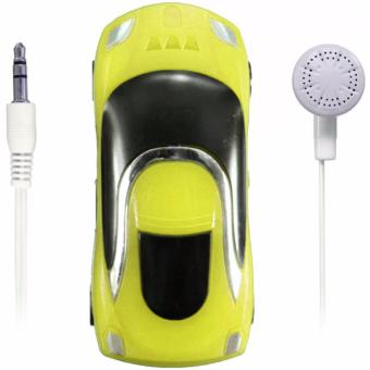 Harga MiniCar Shape MP3 Music Player With Bundle USB and Earphone Hole (Yellow)