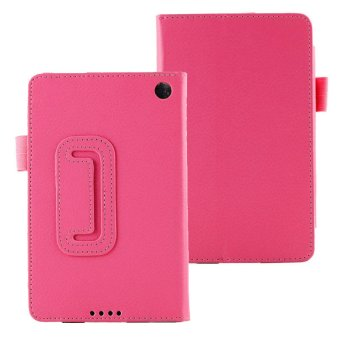 Harga New Leather Folio Stand Case Cover For Amazon Kindle Fire HD 6 Tablet Hot Pink