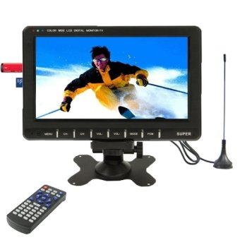 9.8 inch Wide LCD mini monitor/Analog TV with FM Radio, Support SD/MMC Card, USB flash disk(Black) Price Philippines