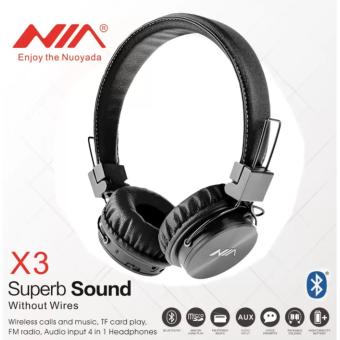 HUG NIA-X-3 4 in 1 Bluetooth Stereo Headset (Black) Price Philippines