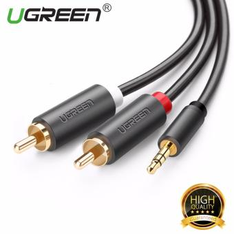 Harga UGREEN 3.5mm to 2RCA Male Y Splitter Audio Cable for Headphone Cell Phone (5m)