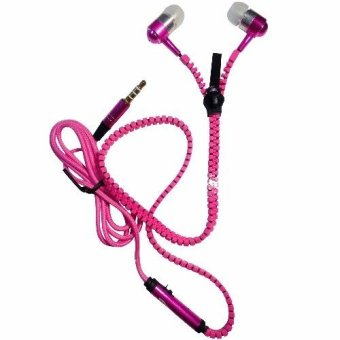 Harga Universal Zipper Earphones/Headsets for Cherry Mobile Omega HD 2.0 (Pink)