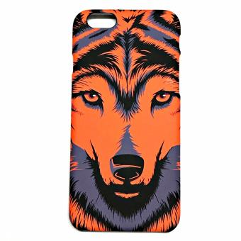 Harga LUXO iphone 6/6s case, Animal 3D Printed,Glowing in the dark, Quality and Premium Case 2017 ( WOLF Orange )