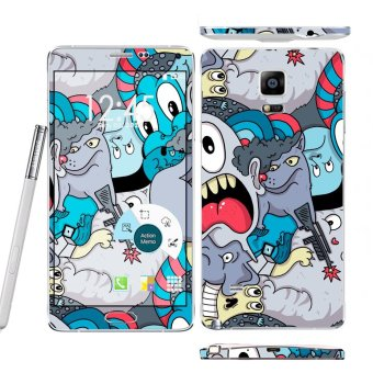 Harga Oddstickers doodle Pattern 1 Phone Skin Cover for Samsung Galaxy Note 4