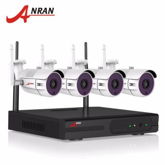 ANRAN 4CH Surveillance System Wireless NVR Kit P2P 720P HD H.264 Waterproof IP Camera Outdoor CCTV Security Camera System - intl Price Philippines