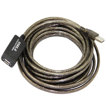Harga USB extension Cable with booster (Black) 5 meters
