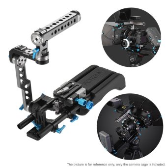Harga FOTGA DP500III 2 in 1 Standard Rosette ENG Handle Cage + Shoulder Rig Including Shoulder Pad + Handgrip + Baseplate + 15mm Rod Rail Video Stabilizer Movie Film Making System Kit for Canon Sony Nikon DSLR Camera Camcorder Outdoorfree - intl