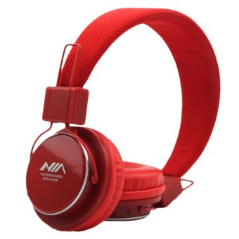 Nia Q8-851s 108dB Bluetooth Stereo Headset Wireless Stereo Headphones (Red) Price Philippines