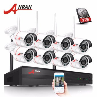 ANRAN 8CH Wifi NVR Network Video Recorder Wireless CCTV System1080P HD Mini Bullet Wifi IP Camera Surveillance Kit - intl Price Philippines
