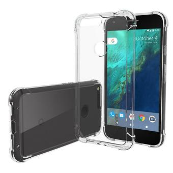 Google Pixel Case Clear[Clear View] Hybrid Scratch Resistant Back Cover with Shock Absorbing Bumper for Google Pixel - Crystal Clear - intl Price Philippines