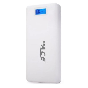 Ace A-206 20000mAh Power Bank with Flashlight (White/Grey) Price Philippines