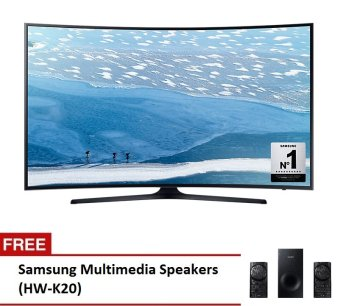 "Samsung 49"" UHD 4K Curved SmartTVSeries UA49KU6300G with FreeMultimedia Speaker HW-K20"""