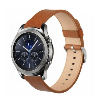 Gear S3 Frontier / Classic Watch Band,Venter 22mm Premium Vintage Crazy Horse Soft Genuine Leather Strap Replacement Bracelet for Samsung Gear S3 Frontier/S3 Classic SmartWatch - intl Price Philippines