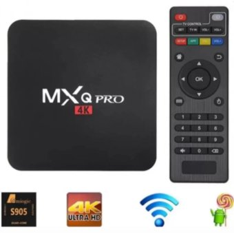 Harga MXQ Pro 4K Ultra HD TV Box Wireless Wifi Quad Core Android Lolipop 5.1 Smart Streaming Media Player (Black)