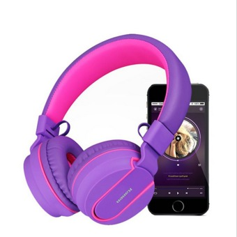 Harga Kanen BT-05 Bluetooth Wireless Headphone (Pink) - Intl