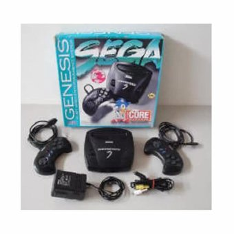 Harga Sega Genesis 3 16 bit Classic Game Core System Complete Game Console with Built-In Games (Black)